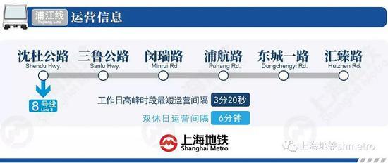 图说:浦江线设6坐车站