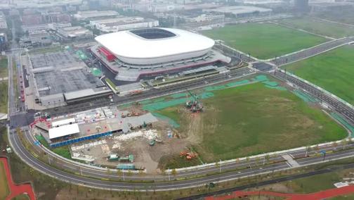 浦东足球场外围的金靴子地块又有重点项目启动建设