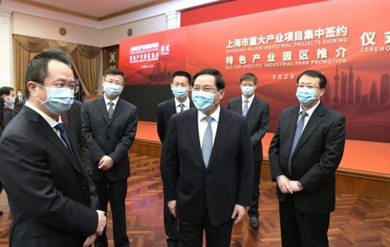 上海152个重大产业项目集中签约 总投资约4418亿元