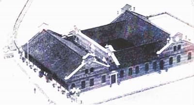 上海四合院绞圈房。(资料图片)