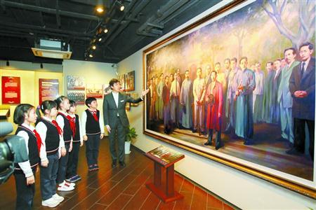 中共四大纪念馆日前挂牌,成为全国爱国主义教育示范基地。 本报记者 蒋迪雯 摄