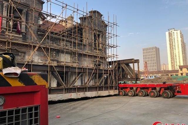 近百岁石库门建筑逸廬完成车载式整体平移 移动100米