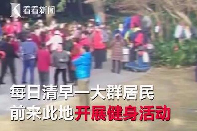 老年百人广场舞团队占领烈士陵园:热闹了该感谢我们