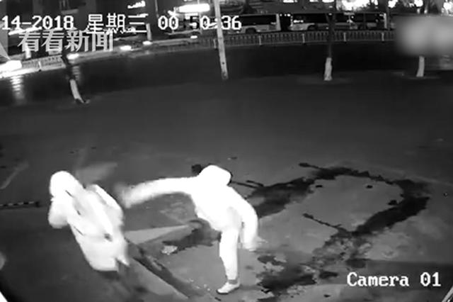 两人用砖砸店其中一人砸中同伙 网友:一定是卧底