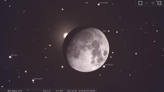 视频:天宇23日将上演浪漫星月童话 上弦月遇毕宿五