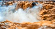 水量剧增 壶口瀑布现壮美景观