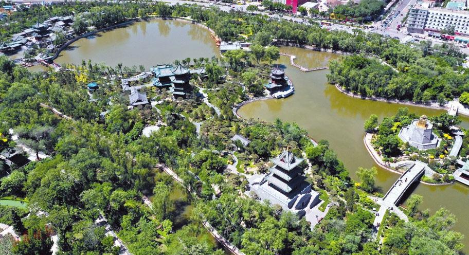 62岁迎泽公园:绿翡翠缀在城中央