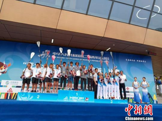 """第二届全国青年运动会(简称""""二青会"""")冲浪(桨板)项目比赛27日在山西太原水上运动中心圆满落下帷幕。供图"""