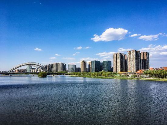 美丽太原,太原汾河公园。新华网 发 (付宇鹏 摄)