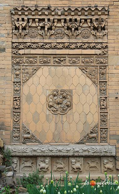 炎帝行宫所在地故关村保存完整的精美照壁