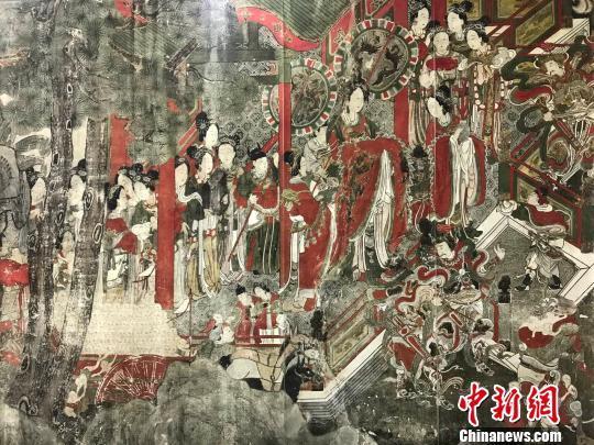11日,《千年丹青》——山西古代壁画掇英展在太原美术馆开展。 王惠琳 摄