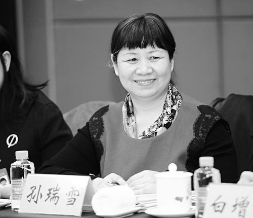 孙瑞雪在长治代表团分组讨论会上。 记者寇宁摄