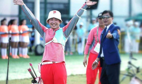 第十三届全运会山西代表团选手方玉婷夺得射箭女子个人组冠军