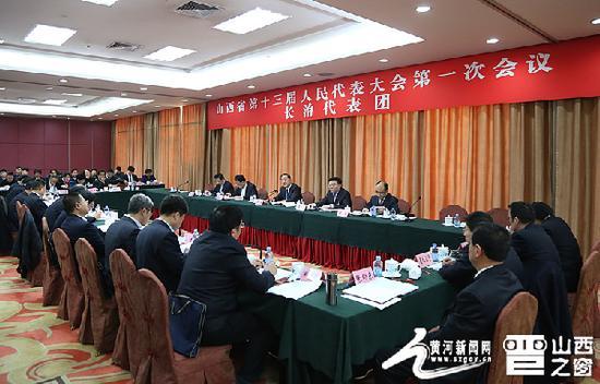 省十三届人大一次会议举行全团会议