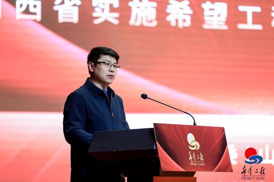团省委书记张钧在现场发言