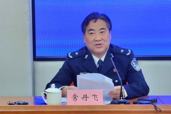 太原市公安局黨委委員、副局長常丹飛發布通告 郝智祥 攝
