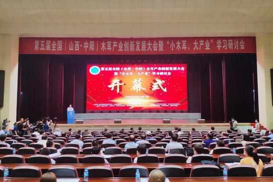 第五届全国(山西·中阳)木耳产业创新发展大会开幕式现场 摄影:郝智祥