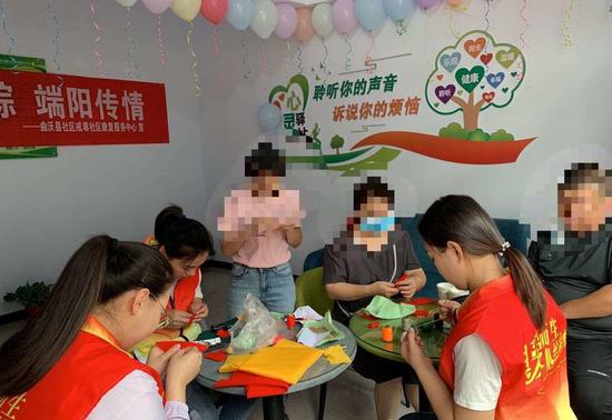 曲沃县戒毒社区康复服务中心开展戒毒趣味活动