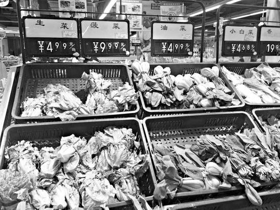 省城某超市的蔬菜价格。
