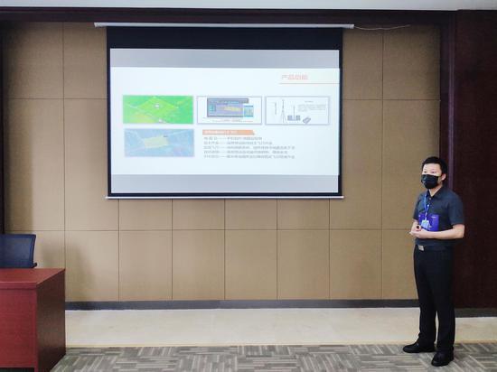 """2020""""创客中国""""山西省中小企业创新创业大赛选手展示中 摄影:郝智祥"""