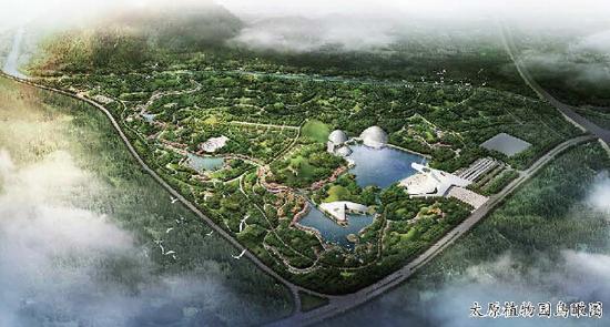 设计方案中,园内景观分为五大功能区,即科学实验区,入口管理区,植物