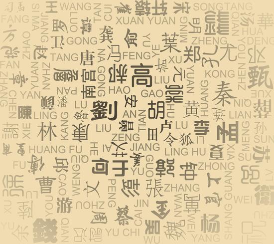 人口最多的姓氏_中国人口最多的姓氏