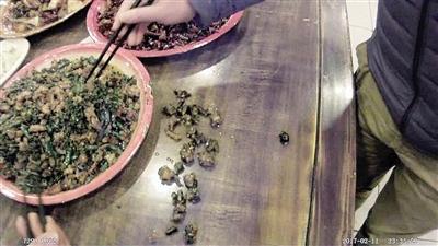 王先生在沙坪坝一家餐馆就餐,点了一只鸡,却在盘子里吃出了10个鸡爪子。 本报记者 甘侠义 摄