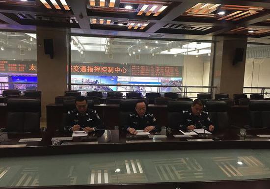 太原市公安局交警支队召开违法停车执法管理新闻通气会