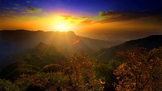 云丘山绝美日出