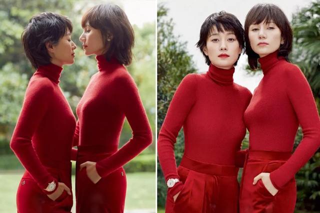 袁泉马伊琍合体秀姐妹情 并带来秋冬红色穿搭指南