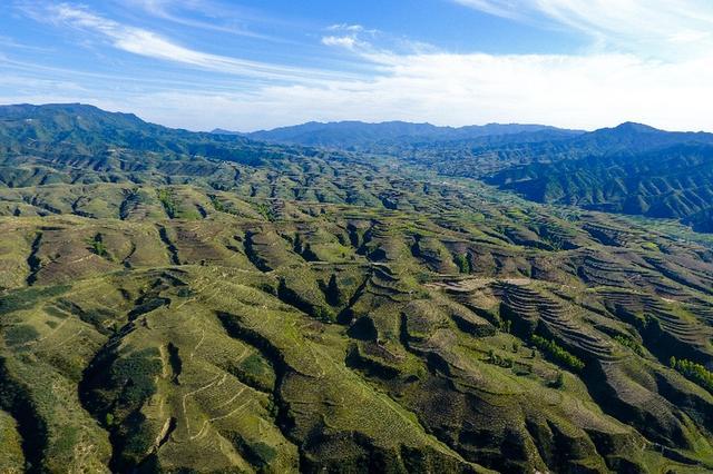 航拍吕梁山:绿染黄土高原