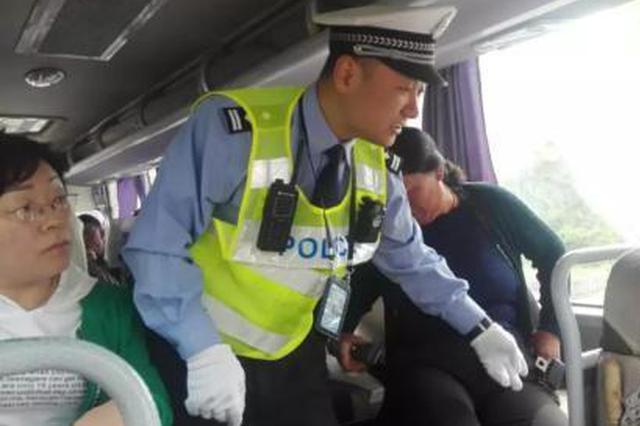 """山西高速交警开始现场处罚""""乘车人不系安全带"""""""