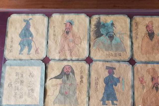 山西高平发现8幅炎帝行宫壁画蓝本底稿 色调鲜艳