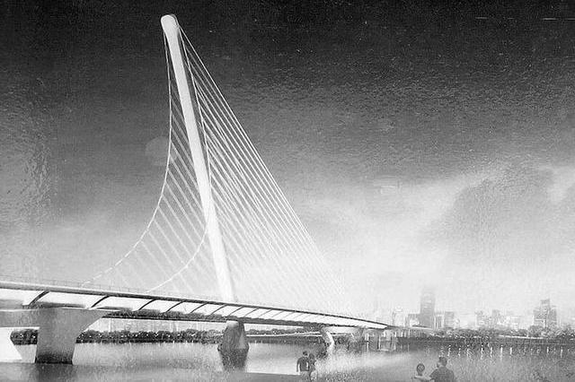 """太原汾河将建迎宾桥 以""""龙腾云霄""""为设计主题"""