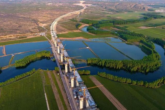 运宝高速黄河大桥成功合龙 今年10月将建设完成