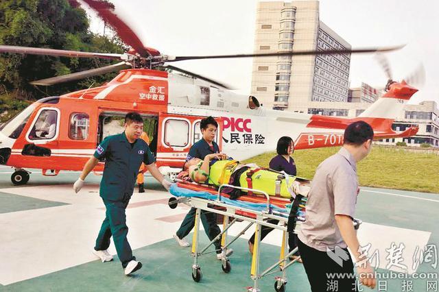救援直升机紧急搭建空中绿色通道 86分到太原医院