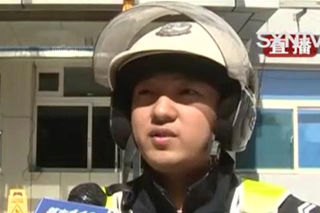 视频丨太原10月大男婴昏睡不醒 交警开辟生命通道