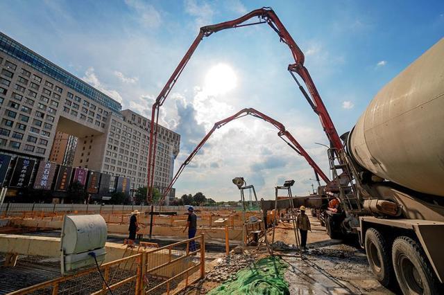 太原天龍山路建設進入收尾階段 10月底有望完工