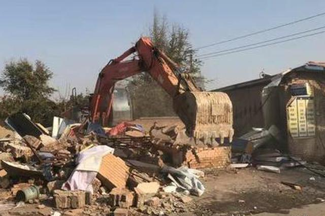 太原军民路6间违法建筑拆除 将极大缓解城南交通压力
