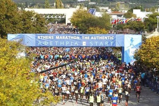 山西运城跑者圆梦马拉松运动圣地雅典(组图)