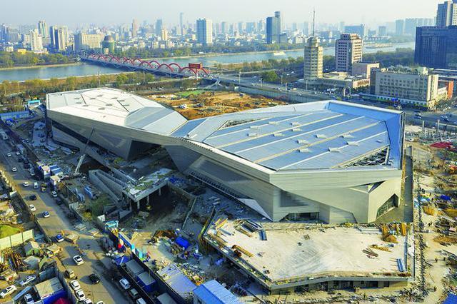 太原滨河体育中心主体完工