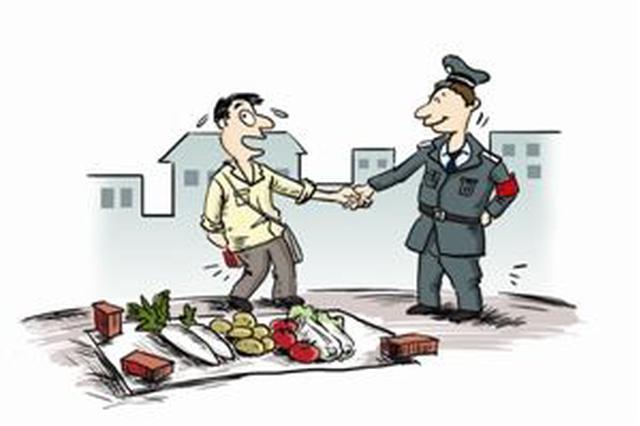 太原:3名摊贩占道经营 劝离未果又殴打城管被刑拘