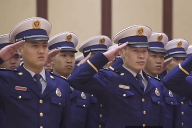视频丨你好,火焰蓝!山西消防救援队伍正式换装