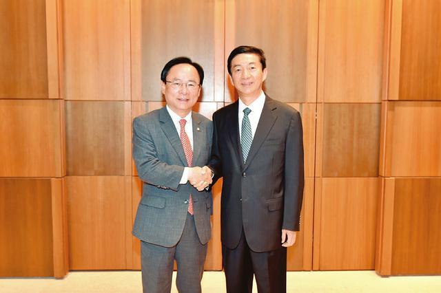 骆惠宁率山西代表团对韩国进行友好访问