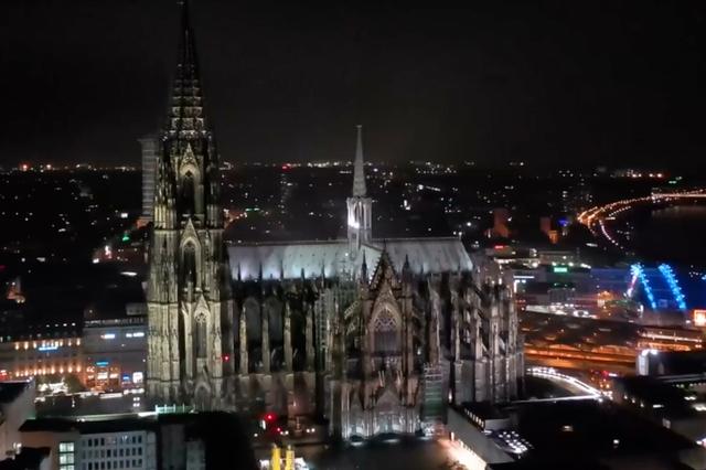 德国科隆大教堂最美夜景