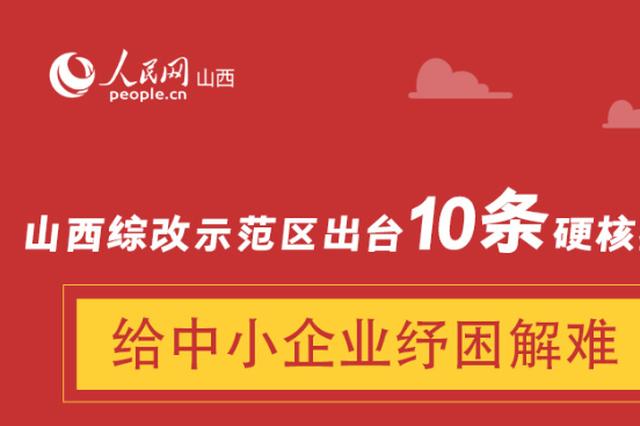"""山西出台10条""""硬核""""措施为中小企业纾困解难"""