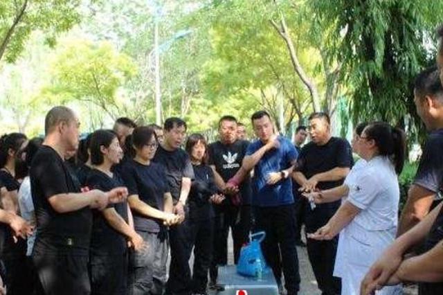 """关爱生命""""救""""在身边  柳林县公安局开展急救训练"""