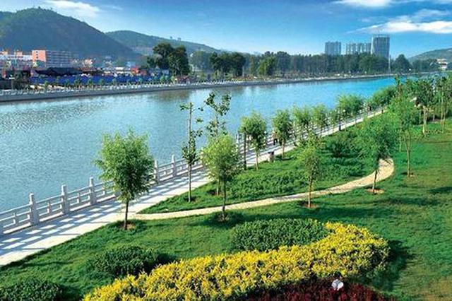 山西临县:大手笔整治湫水河 乱河滩变成绿茵场