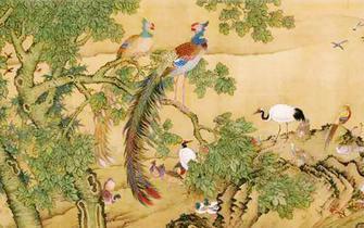 中国花鸟画与清代沈铨之《百鸟朝凤图》