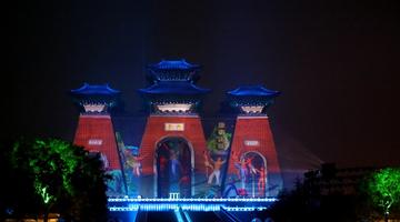 尧庙:华门光影秀在临汾举行